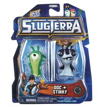 Ensemble de 2 figurines base de Slugterra - Doc et Stinky