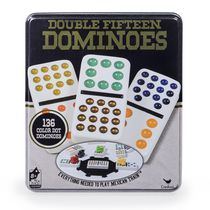 Jeu de dominos double-15 Train mexican de Cardinal