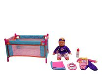 14 inches Baby with Playpen Set