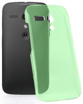 Exian Transparent Case for Moto G - Green