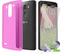 Exian Transparent Case for LG G3 Pink