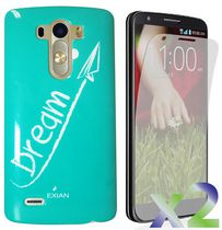 Exian Case for LG G3, Dream White -Teal