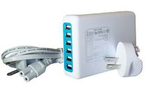 Exian 7 Amp 6 Port USB Charger