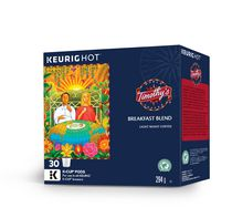 Keurig Hot Timothy's Breakfast Blend K-Cup Coffee Pods