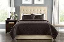 Springmaid Quilt Set Brown