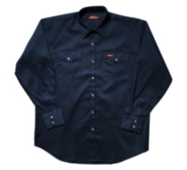 G14012 Genuine Dickies Snap Work Shirt Black M/M