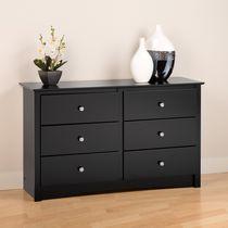 prepac sonoma black children s 6 drawer dresser