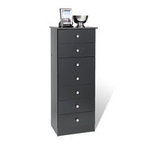 Prepac Edenvale Black 7-Drawer Tall Chest