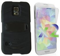 Exian Armored Case with Stand for Samsung Galaxy S5 - Black