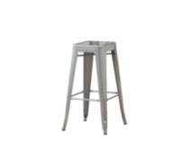 "Monarch Silver Galvanized Metal 30""H Cafe Barstool / 2Pcs Per Ctn"