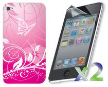 Exian Case for iPod Touch 4 - Pink Butterfly
