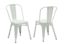 Monarch Specialties White Glossy Metal Cafe Chairs