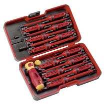 Felo E-Smart Insulated Screwdrivers Set with 12 Interchangeable Blades and 2-Component Handle