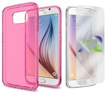 Exian Transparent Case for Samsung Galaxy S6 - Pink