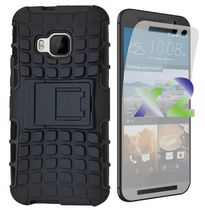 Exian Armored Case with Stand for HTC One M9 - Black