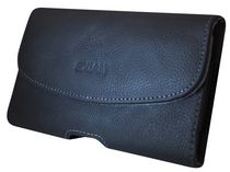 Exian Real Leather Pouch - With Belt Clip Extra Large