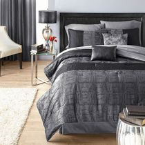 hometrends Crocodile Black King Comforter Set