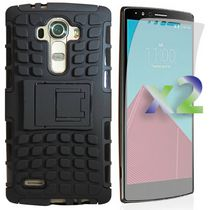 Exian Armoured Case with Stand for LG G4 - Black
