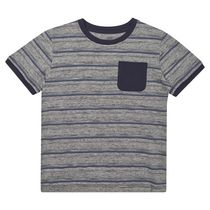 George British Design Boys Grey Stripe T Shirt 10