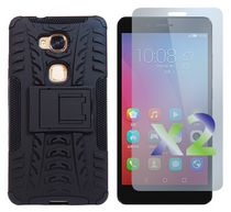Exian Armored Case with Stand for Huawei Honor 5X in Black