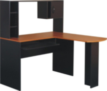 Mainstays L-shaped Computer Desk Black