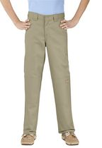 Genuine Dickies Boy's Classic Fit Double Knee Twill Pant Sand 12