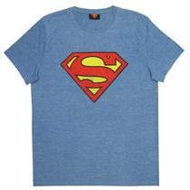 Superman Men's Space Dyed Short Sleeve T-Shirt Medium