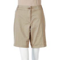 George Women's Twill Bermuda Shorts Taupe 10