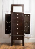 Hives & Honey Espresso Hannah Jewelry Armoire