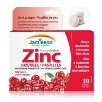 Jamieson Echinacea Vitamins C and D Wild Cherry Zinc Lozenges