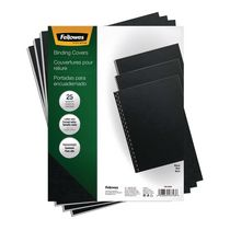 Fellowes® Futura™ Presentation Covers - Letter, Black, 25pk