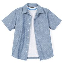 George Boys' Short-Sleeve Chambray Shirt with Tee S/P