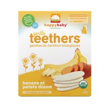 Happy Baby Gentle Teethers Banana and Sweet Potato Organic Teething Wafers