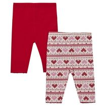 George British Design Baby Girls' 2Pk Fairisle Leggings 3-6 months
