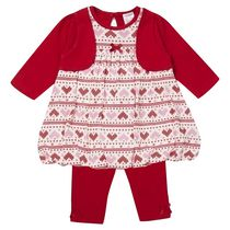 George British Design Baby Girls' Fairisle Puffball Set 3-6 months