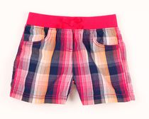 George Girls' Pull-On Poplin Shorts Pink 4
