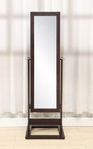 Hives & Honey Cheval Trinity Jewelry Armoire - Brown Finish