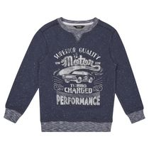 George British Design Boys Motor Graphic Sweatshirt 8