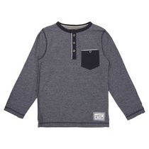 George British Design Boys Blue Long Sleeve Pocket T Shirt 12
