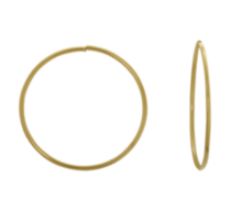 10K Yellow Gold 21MM Hoop Earring