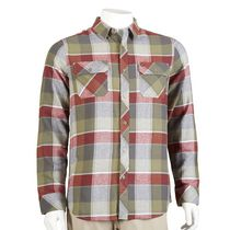 Hawk Men's Long Sleeved Flannel Shirt Olive L/G