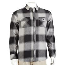 Hawk Men's Long Sleeved Flannel Shirt Black L/G