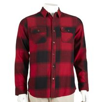 Hawk Men's Long Sleeved Flannel Shirt Red L/G