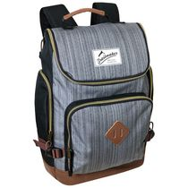 Athletic Works Backpack With Heather Material and Vinyl Trim