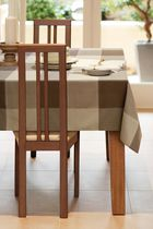 Home Trends, Topstich tablecloth, 52x70 Brown