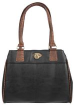 Anna Martina Franco Croco Trim 3-Compartment Shoulder Bag