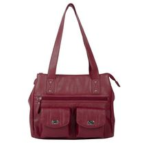 Anna Martina Franco Twist Lock 3-Compartment Shoulder Bag