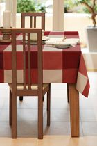 Home Trends, Topstich tablecloth, 60x84 Red