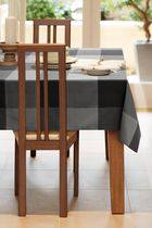 Home Trends, Topstich tablecloth, 60x84 Black