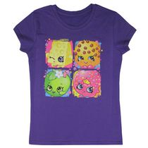 Shopkins Girls' Short Sleeve Round Neck T-shirt L-14